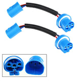1 Pair 9004 9007 HB5 Extension Wiring Harness Sockets Wire Headlights Fog Lights
