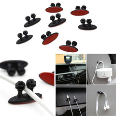 8 Pieces Car Phone Wire Cord Clip Cable Holder Tie Fixer Organizer Adhesive Clamp