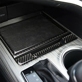 Real Carbon Fiber Interior Center Console Ashtray Storage Box Panel Cover Trim Decals Stickers for Toyota Camry 2018 2019 2020
