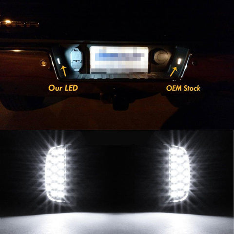 2 x LED License Number Plate Light Kit 18-SMD License Plate Lens for Ford Chevy Silverado Suburban etc