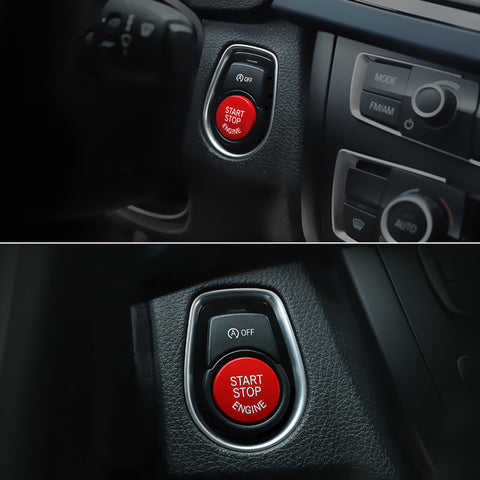 Red Car Engine Start Stop Switch Push Button Cover for BMW F30 F10 F15 F25 F48 X1 X3 X4 X5 X6 (F Class with OFF Button)