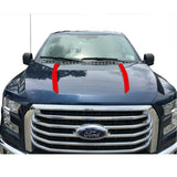 2x Glossy Black / Matte Black / Glossy Red Spear Hood Decal Vinyl Stripe Sticker for Ford F-150 2015-2019