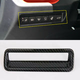 5pcs for Toyota RAV4 2019 2020 Interior Cover Trim ABS Carbon Fiber, AC Panel Frame Cover + Dashboard Air Vent Cover Molding + Glove Box Handle Cover Decor + Multifunction Button Frame Trim