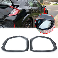 Carbon Fiber Style Car Door Rearview Side Mirror Frame Cover Trims for Honda Civic 2016 2017 2018 2019 2020