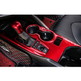ABS Carbon Fiber / Red ABS Gear Shift Knob Console Panel Trims Cover Cup Holder Decor Decal for Toyota Camry 2018+