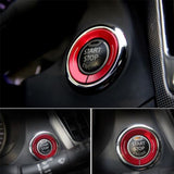 Anodized Alloy Ignition Start Stop Button Cover Ring for Infiniti Q50 Q60 QX60[Red\ Purple\ Gold\ Blue\ Silver]
