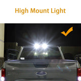 6pcs for Ford F-150 2018 2019 LED High Mount Cargo Light + License Plate Light + Backup Reverse Light, Error Free Super Bright LED Tailgate Lamp Combo Package