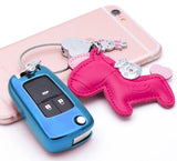 TPU Key Fob Cover Case Remote Holder Protector Jacket for Chevrolet Equinox Camaro Cruze Malibu Sonic Volt Park Impala/Fit Buick Encore Allure Regal, Blue