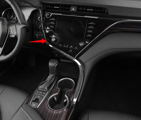 ABS Carbon Fiber Car Center Dashboard Console Strip Trim Molding Decoration for Toyota Camry 2018 2019 2020
