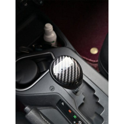 ABS Carbon Fiber Car Interior Center Console Gear Shift Knob Cover Trim for Toyota RAV4 2013-2018