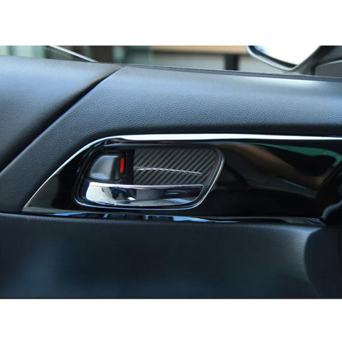 4pcs Carbon Fiber Style Car Inner Door Handle Bowl Trim Panel Cover for Honda Accord 2013-2017