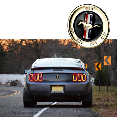 Gold / Silver Chrome Running Horse Emblem Metal Door Fender Badge Sticker for Ford Mustang