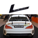 Black/Red Series Badge Car Rear Trunk Body Emblem Sticker For Mercedes Benz AMG