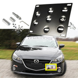 1 Set Front Tow Hook License Plate Bumper Mounting Bracket Relocator for Mazdaspeed 6 2006-2007