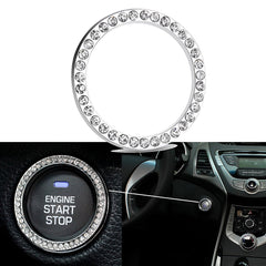 1 Piece Car Engine Start Stop Ignition Diamond Emblem Sticker Decoration Universal Fit