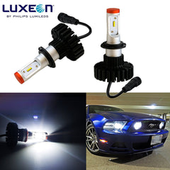 2x HID White 6000K Luxen LED 160W 12000LM H11 H8 H9 Headlight Bulbs Kit (Newest Model)