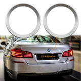 2 Pieces Car Front Rear Logo Chrome Ring Decoration For BMW 5 Series F10 F11