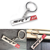 1x HEMI SRT 8 3D Chrome Keychain Ring 3D Key Chain Nameplate Emblem for Mustang Dodge Chrysler