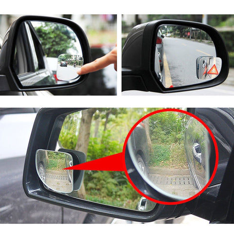 Blind Spot Mirror, 2 Pcs Black Fan-shaped Auxiliary Blind Spot Convex Rear View Adjustable Angle Mirror for Car For Car Truck SUVs Motorcycle