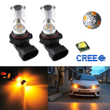 2x 100W 9140 9145 H10 9045 9055 High Power CREE LED Bulbs For Fog Lights
