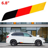Euro Germany Flag Stripe Trunk Side Skirt Hood Front / Rear Sticker Fit Euro Car Audi BMW MINI Mercedes Porshce Volkswagen Exterior Decoration