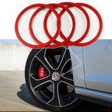 4 Pieces Blue / Red Pack Car Wheel Center Cap Hub Rings Alloy Decoration For VW Volkswagen Caddy EOS Golf Jetta Passat CC Phaeton Scirocco Sharan Tiguan Touran Transporter