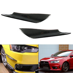 Carbon Fiber Front Bumper Canards Splitters Universal Fit Car