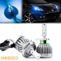 2x 9003 H4 HB2 Ice Blue 8000K High Power COB LED Headlight Conversion For Low/High Dual Beams DRL Fog Lights Kit Bulbs (Newest Model)