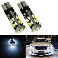 Super Bright 22-SMD Error Free 2825 W5W LED Parking City Light Bulbs, HID matching White Color