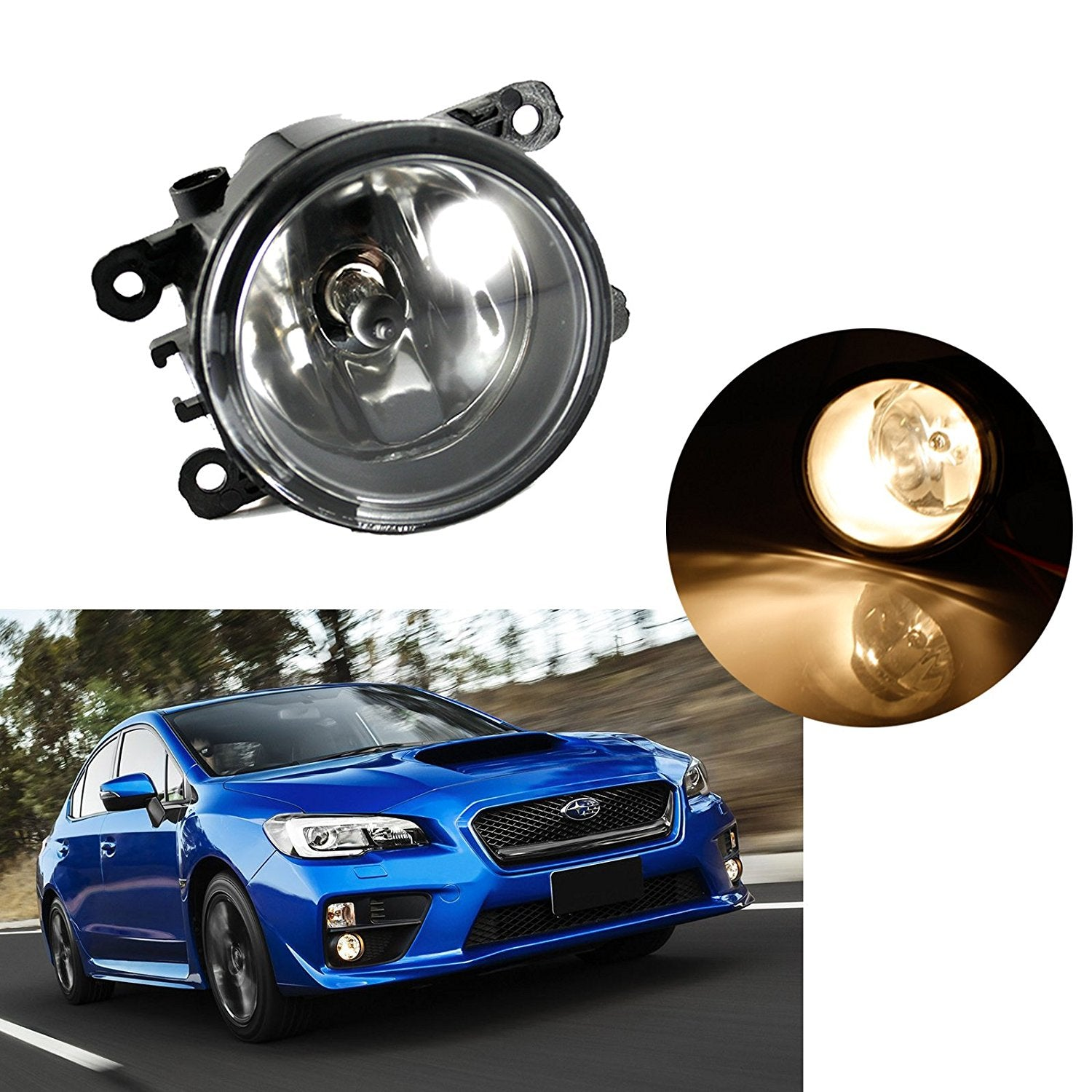 Fog Light Lamp Replacement With H11 Halogen Bulb Fit