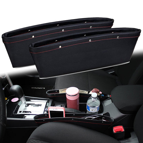 2 Pieces Car Seat Seam Bag Storage Organizer Holders Phone Auto Accessories