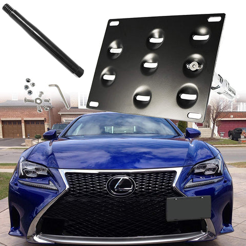 Tow Hook License Plate Bumper Mount Bracket For Lexus IS CT GS LS RC RX