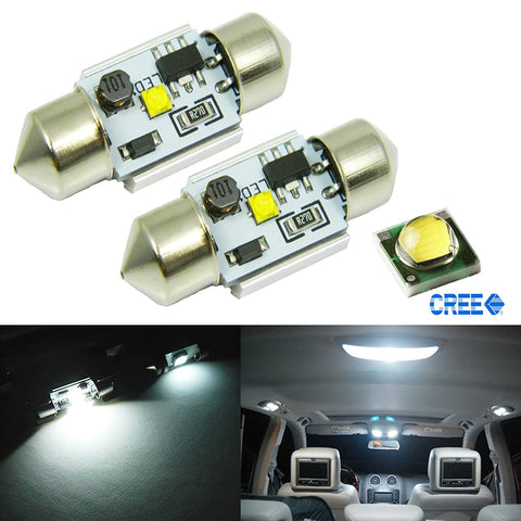 Extremely Bright 31mm CREE LED Bulbs For Car Interior Dome Lights DE3175 DE3022
