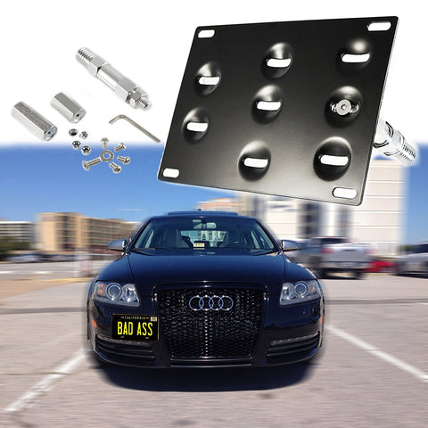 1 Set Front Tow Hook License Plate Bumper Mounting Bracket Holder Relocation Fit Audi A4 A5 S4 S5 RS5 RS7 A7 S7