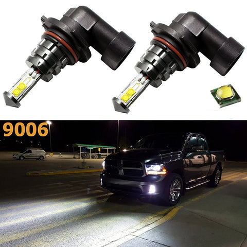 (2) White Low Power Consumption 1800LM CREE LED 9006 HB4 6000K Super White Fog Lights Bulbs DRL Lights