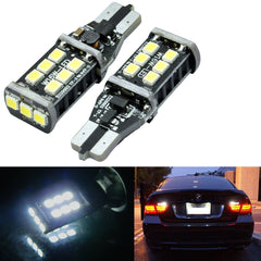 (2) Error Free White High Power T15 LED Bulbs For Back up Reverse Lights 912 921 T10