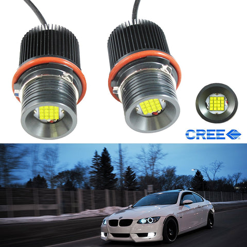 Mega 80W 7000K White LED Angel Eyes Ring Marker Bulbs For E39 E60 E63 E53