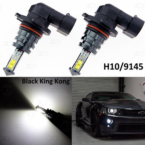 2x Super Bright White 6000K H10 9145 9140 9045 CREE LED Bulbs Lamps for DRL Daytime Running Fog Light