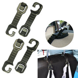 4 pcs pkg - Car Seat Back Hanger Headrest Grocery Bag Holder Universal Fit