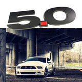 1x Side Metal Aluminum Badge Sticker 3D Logo 5.0 Liter Fender Emblem For 2011 2012 2013 2014 Ford Mustang Cars