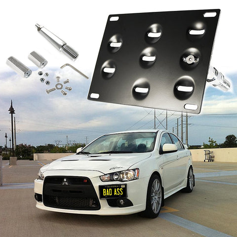 1 Set Front Tow Hook License Plate Bumper Mounting Bracket Fit Mitsubishi Lancer Evolution Evo X …