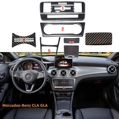 Real Carbon Fiber Interior Trim Stickers For Mercedes Benz 2013-2017 CLA GLA