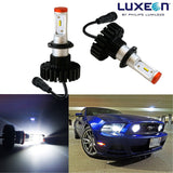 2x White 6000K Luxen160W 9005 9006 9145 H10 High Power LED Low Beam Headlight Bulbs (Newest Model)
