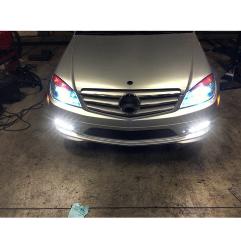 LED Daytime Running Light DRL Fog Lamp for Mercedes Benz W166 ML350 ML500 ML550 ML63 AMG X204 GLK250 GLK350, LED Driving Light Front Bumper Fog Light Left Right 2049065401 2049065501