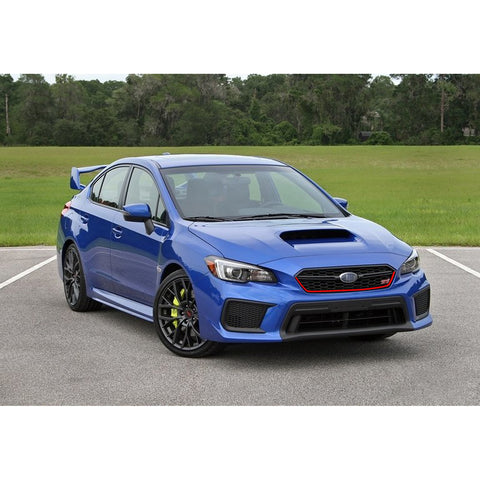 for Subaru WRX STI 2018 2019 2020 Front Grille Pinstripe Vinyl Sticker Glossy Red, Styling Front Hood Panel Edge Molding Trim Decal