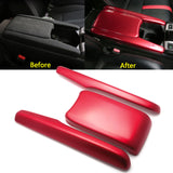 Red Center Console Armrest Box Panel Decor Cover Trim Protector Cap For Honda Civic 2016 2017 2018 2019 2020 10th Generation Interior Accessories