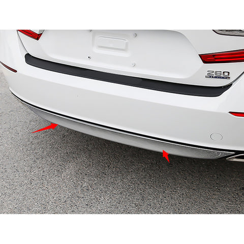 ABS Chrome Rear Bumper Lower Lip Cover Trim Car Body Molding Protector for Honda Accord 10th 2018 2019