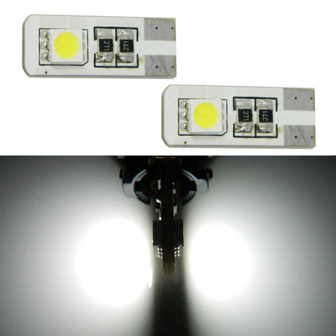 10pcs White Error Free Lamps Parking City LED Lights T10 194 168 W5W 2825 Bulk
