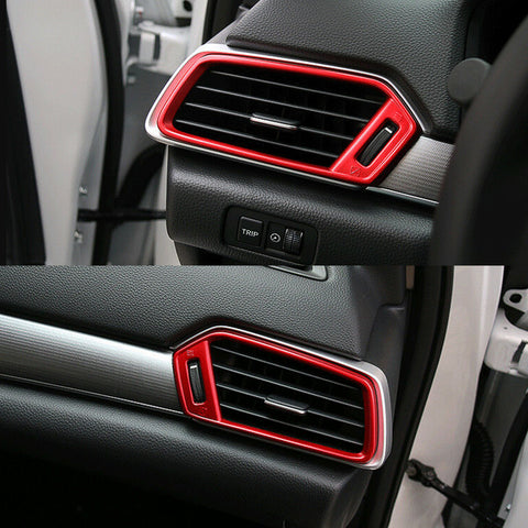for Honda Accord 2018 2019 Dashboard Air Vent AC Outlet Cover Frame Trim, Red Interior Decoration