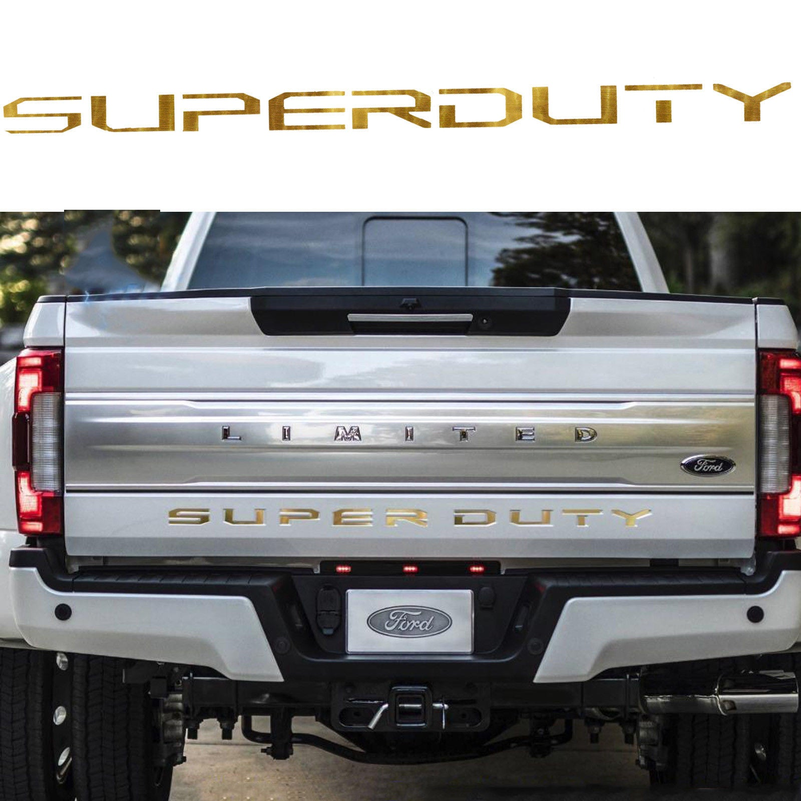 Superduty Letters Decal Emblem Tailgate Sticker For 2017